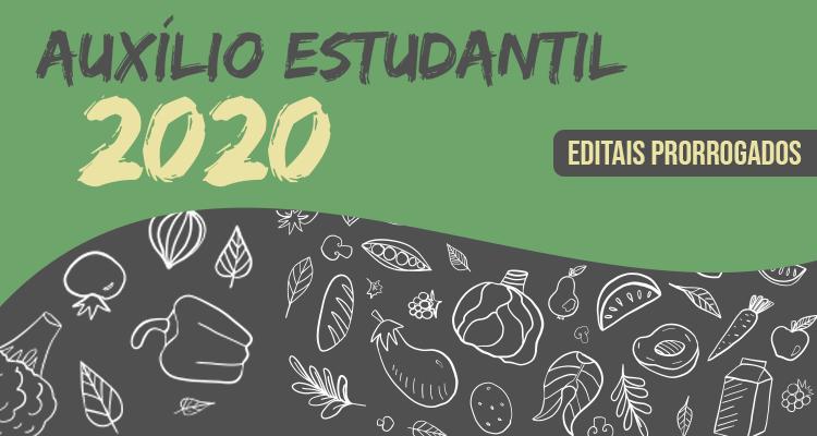 Editais do Auxílio Estudantil 2020 são prorrogados para 2021