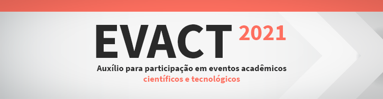 Edital de auxílios para eventos - 2021